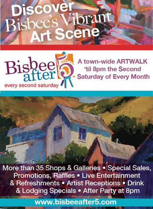 Monthly Art Walk every second Saturday of the month.  The next Art Walk will be on December 14, 2019