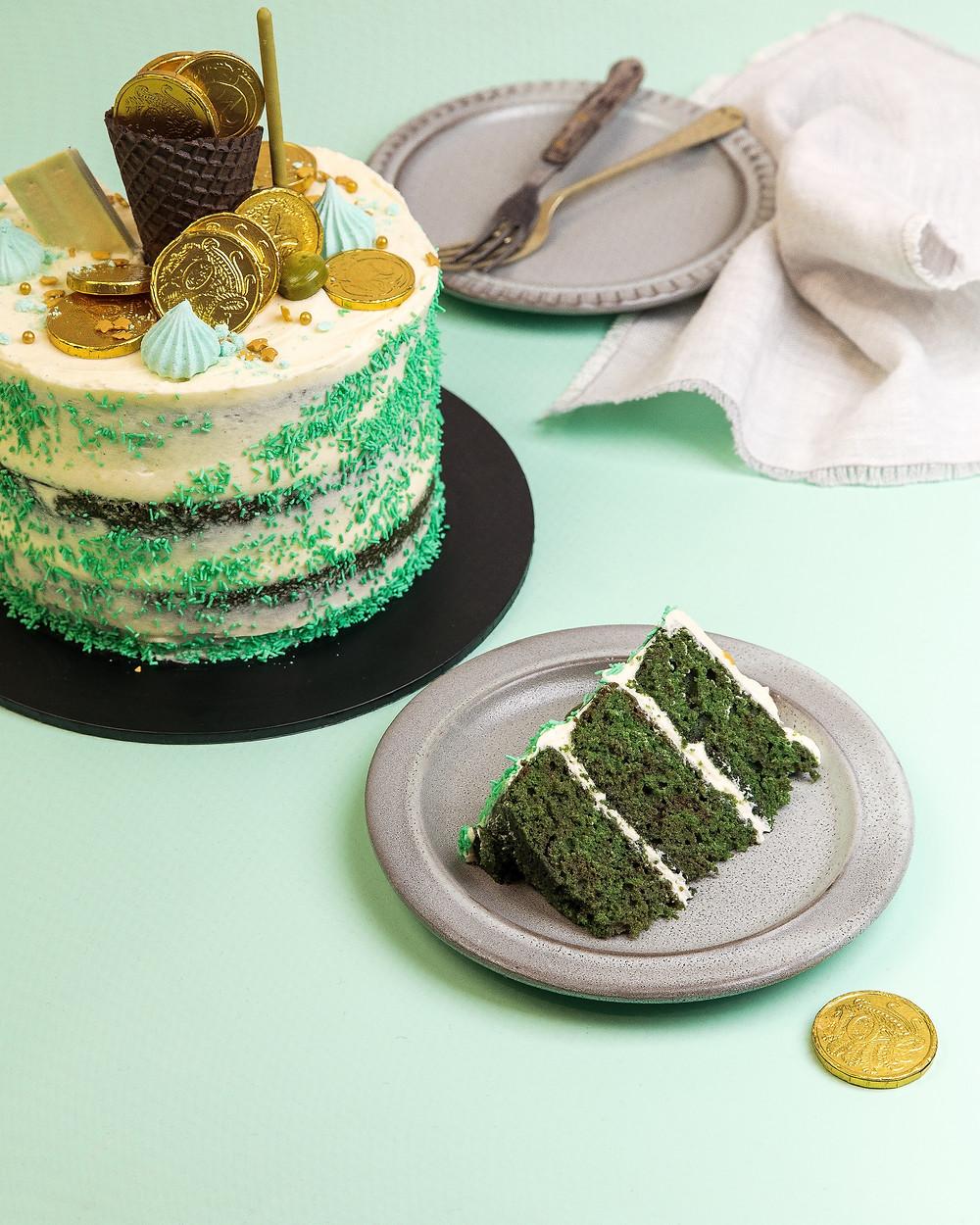 St Patricks Day Green Velvet Cake