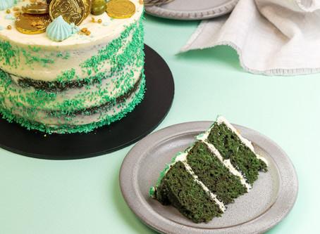 St Patrick's Day Green Velvet Cake