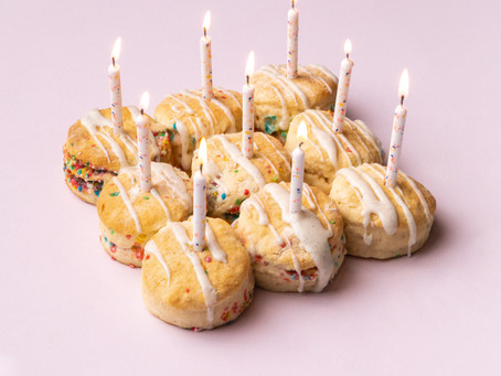 Birthday Cake Scones