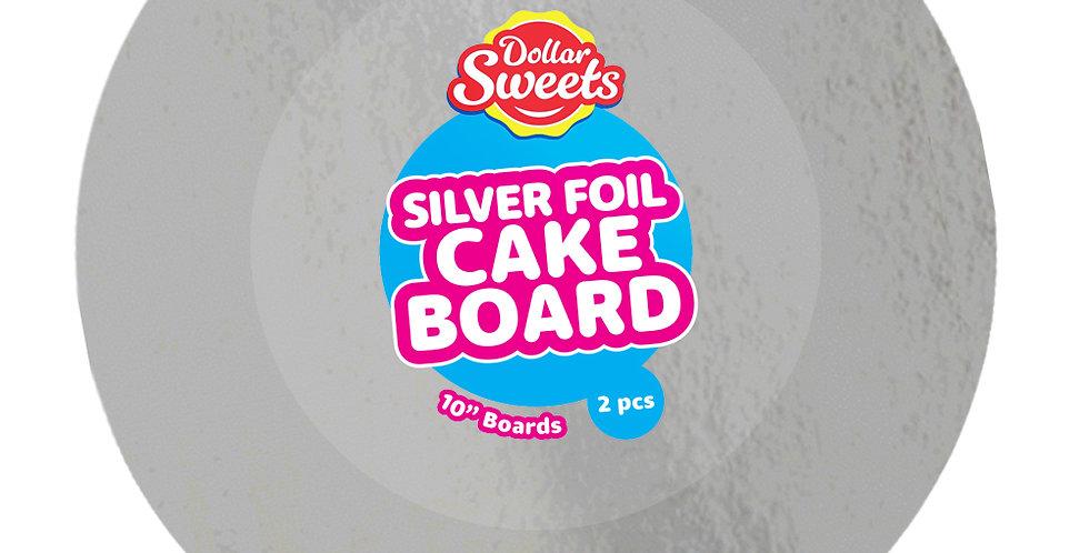 """10"""" Round Silver Cake Board"""