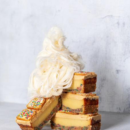 Fairy Bread Caramilk Slice