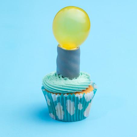 Earth Hour Lightbulb Cupcakes