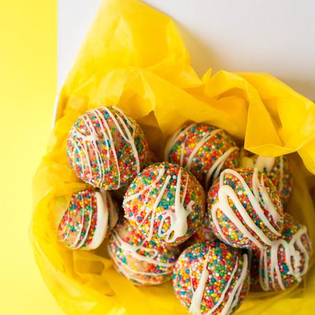 Funfetti cheesecake truffles
