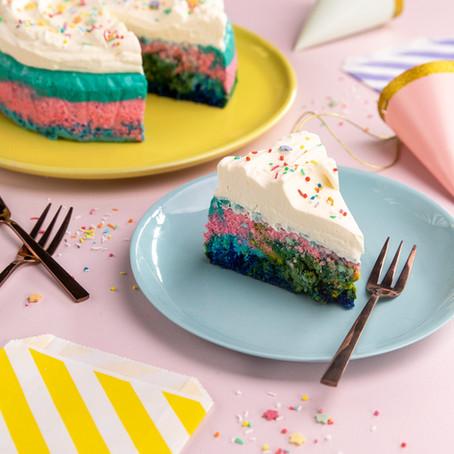 Rainbow Japanese Cheesecake