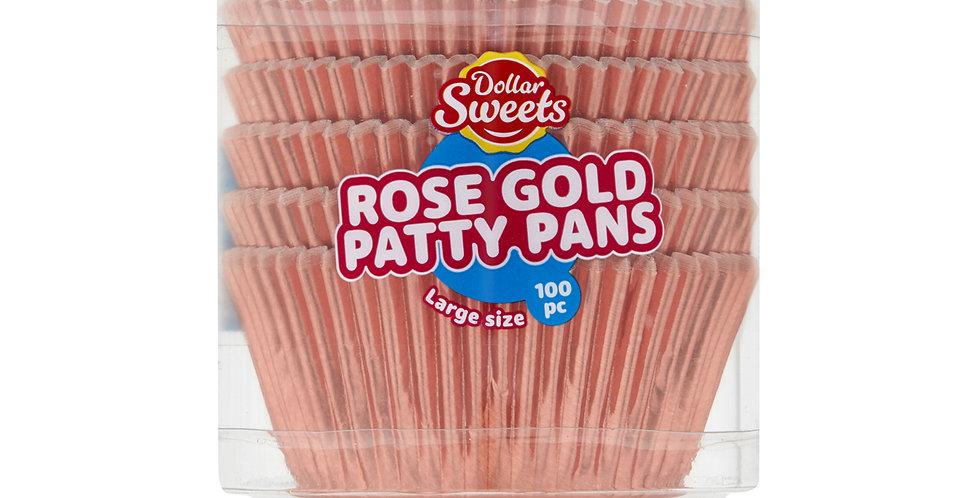 Large Rose Gold Patty Pans