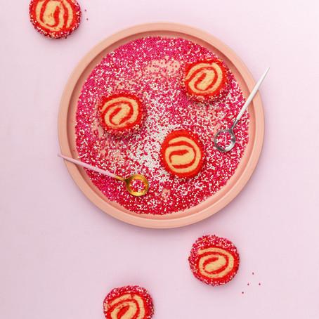 Valentine Pinwheel Cookies