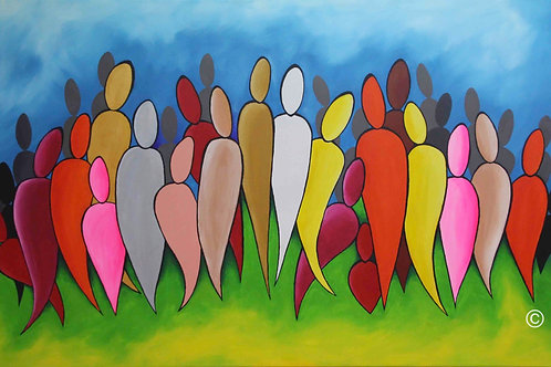 The Gathering Ceremony, Large Painting