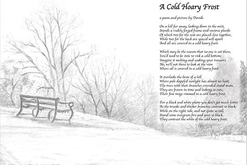A Cold Hoary Frost Poem and illustration
