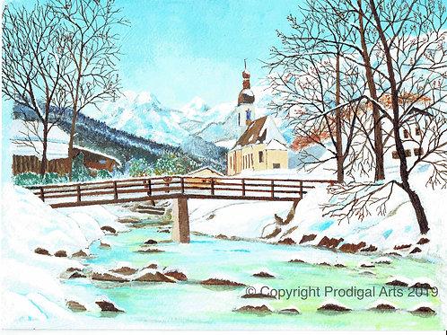 Bavarian Snow Scene