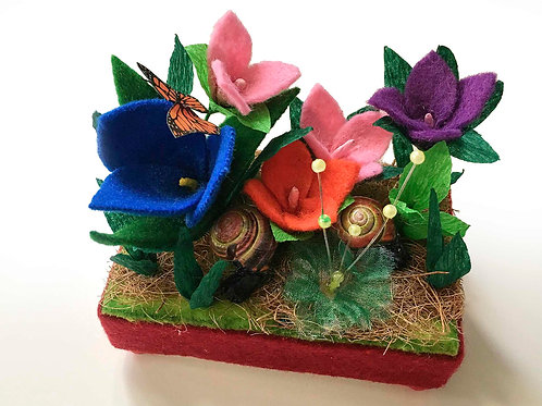 Flowers with Snails and Butterflies