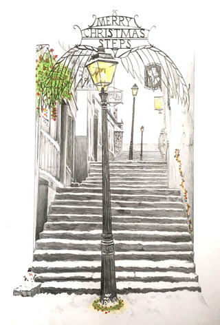 5) Merry Christmas steps by Andrew