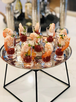 Catering- Shrimp Cocktail in a shot glas