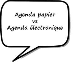 Agenda papier vs Agenda électronique ?