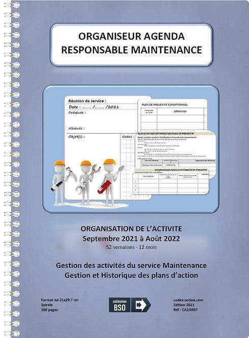 Organiseur Agenda Responsable de maintenance septembre-2021 A4 spirale 160 pages