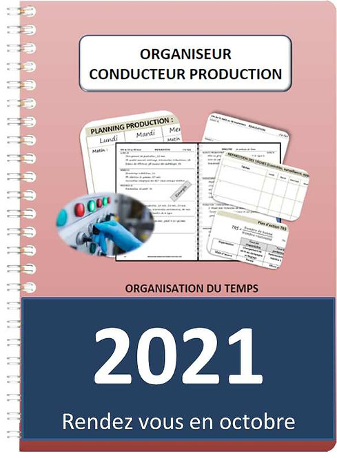 Organiseur Agenda Conducteur production 2021 A5 spirale 140 pages