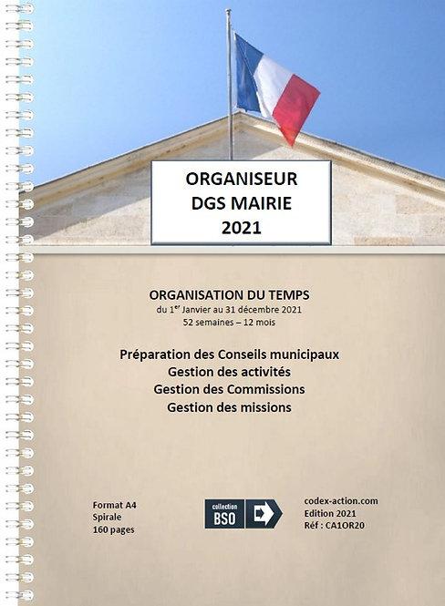 Organiseur Agenda 2021 DGS Mairie A4 spirale 160 pages