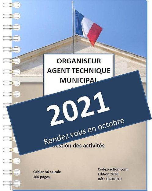 Organiseur Agenda 2021 Agent Technique Municipal  A6 spirale 140 pages