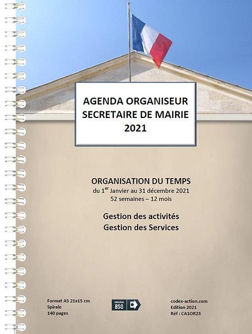 Organiseur Agenda Secrétaire de Mairie 2021 A5 spirale 140 pages