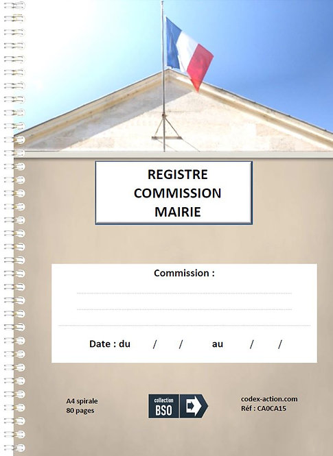 Registre commission Mairie A4 spirale 80 pages