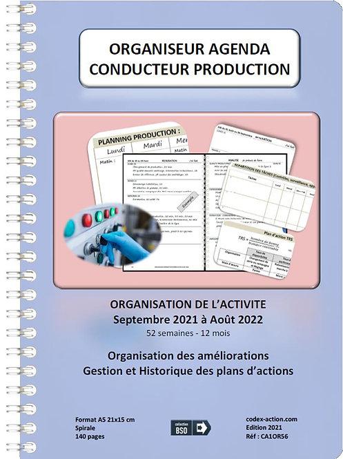 Organiseur Agenda Conducteur production septembre 2021 A5 spirale 140 pages