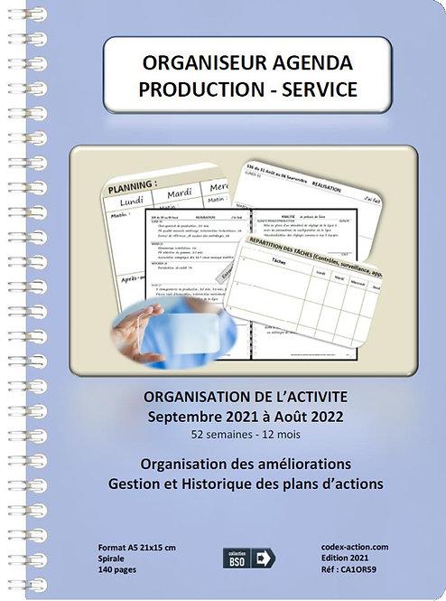Organiseur Agenda Production - Service septembre 2021 A5 spirale 140 pages