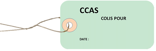 Etiquettes américaines CCAS Colis -cartonnées-100x55mm-attache metallique
