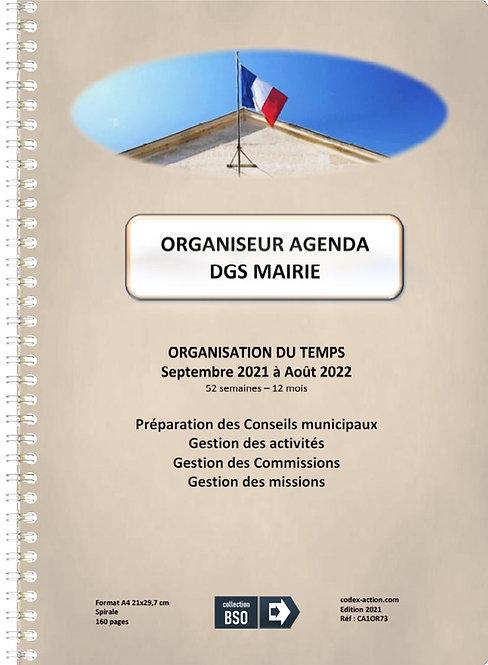 Organiseur Agenda DGS Mairie septembre 2021 A4 spirale 160 pages
