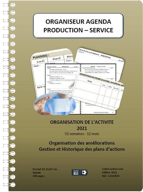 Organiseur Agenda Production - Service 2021 A5 spirale 140 pages