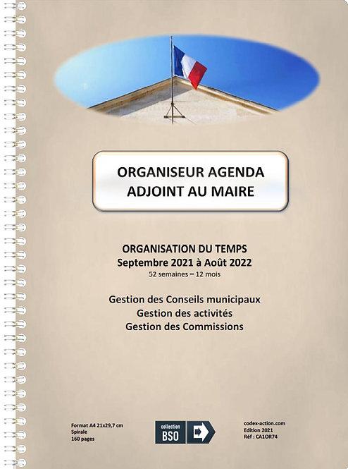 Organiseur Agenda Adjoint au Maire septembre 2021 A4 spirale 160 pages