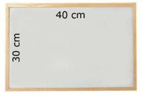 Tableau blanc magnetique effacable 40 x 30 cm cadre en bois