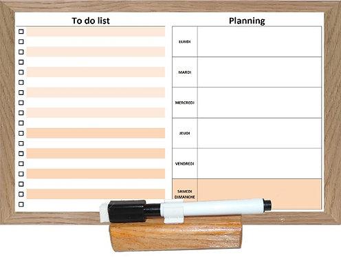 Planning semaine et To Do List effaçables avec socle et feutre