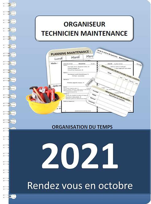 Organiseur Agenda Technicien de maintenance 2021 A5 spirale 140 pages