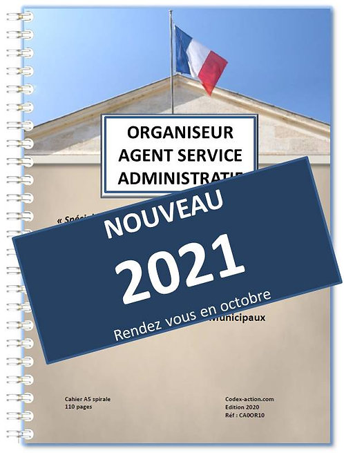 Organiseur Agenda Agent Administratif Municipal 2021 A5 spirale 140 pages