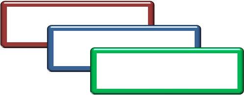 Lot de 3 magnets vierges 10x4 cm magnétiques effaçables