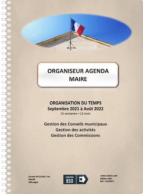 Organiseur Agenda Maire septembre 2021 A4 spirale 160 pages