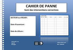 Cahier de panne  Suivi des interventions correctives A4 spirale 80 pages