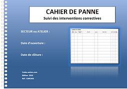 Cahier de panne  Suivi des interventions correctives A4 spirale 100 pages