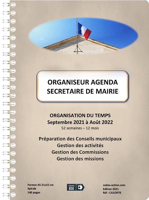 Organiseur Agenda Secrétaire de Mairie septembre 2021 A5 spirale 140 pages