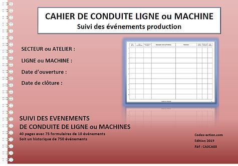 Cahier de conduite de ligne ou machine A4 spirale 80 pages