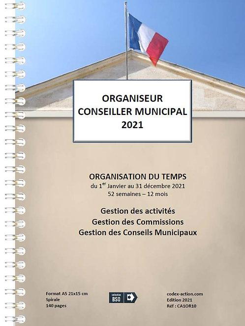 Organiseur Agenda Conseiller municipal 2021 A5 spirale 140 pages
