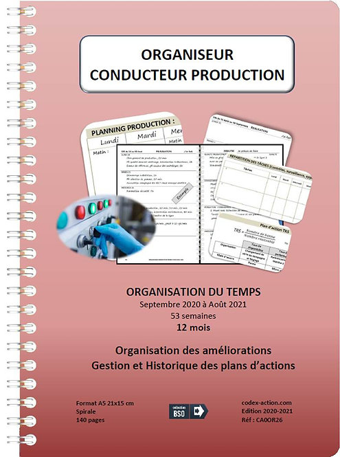 Organiseur Agenda Conducteur production sept-2020-2021 A5 spirale 140 pages