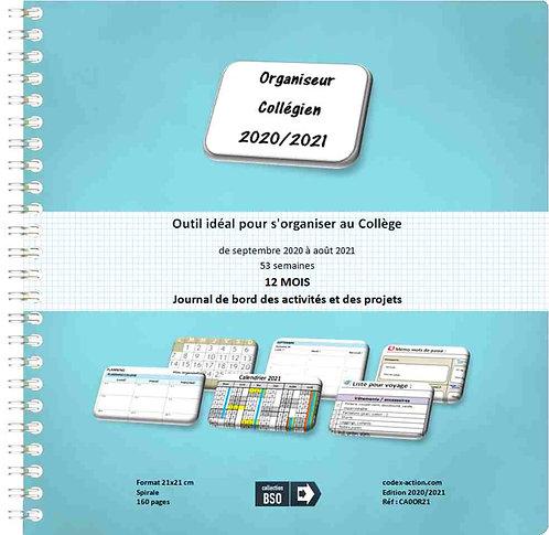 Organiseur Agenda Collégien 2020-2021 21x21 cm spirale 160 pages
