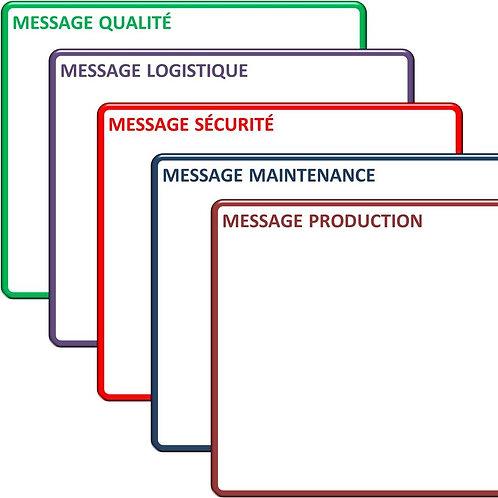 Magnet message métier effacable 15x21 cm A5