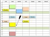 Planning Entreprise + magnets + feutre.j