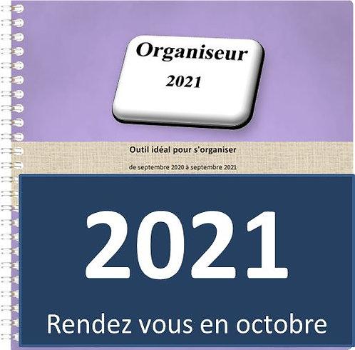 Organiseur Agenda 2021 21x21 cm spirale 160 pages