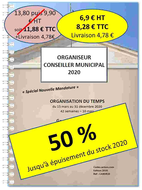 Organiseur Agenda 2020 Conseiller municipal A5 spirale 110 pages