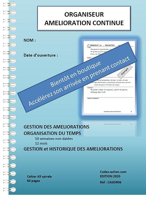 Organiseur Amélioration Continue A5 spirale 130 pages