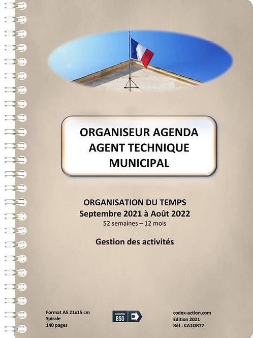 Organiseur Agenda Agent Technique Municipal  septembre 2021 A5 spirale 140 pages