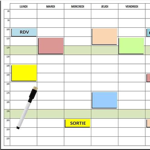 Kit Planning Frigo magnétique effaçable 30x40 cm A3